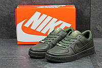 Женские кроссовки Nike Air Force темно зеленые 2723