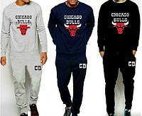 """Спортивный костюм мужской """"Chicago Bulls"""" синий чёрный серый"""