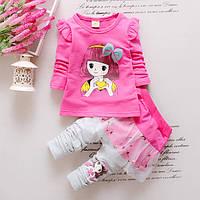 Костюм детский нарядный для девочки туника и лосины