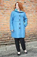 Пальто женское большого размера Букле с капюшоном (4 цвета)