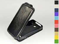 Откидной чехол из натуральной кожи для Nokia Asha 210