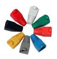 Еластичний пластмасовий ковпачок ізолюючий для конектор RJ45 100 штук в упаковці, 6цветов