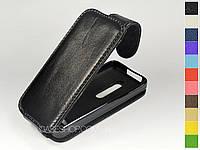 Откидной чехол из натуральной кожи для Nokia Asha 301