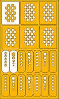 Трафареты-наклейки для дизайна ногтей из виниловой пленки.