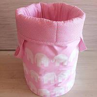 """Корзина для игрушек """"Розовые слоны"""""""