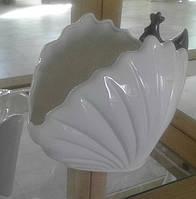 Декор-конфетница керамическая глянцевая Морская раковина.