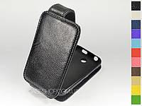 Откидной чехол из натуральной кожи для Nokia Asha 230
