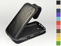 Откидной чехол из натуральной кожи для Nokia Asha 305