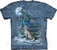 3D футболка The Mountain 103194 Dragon Wolf Moon