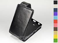 Откидной чехол из натуральной кожи для Nokia Asha 500
