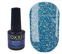 Гель-лак OXXI Professional №202 (сине-бирюзовый с насыщенными голографическими блестками), 8 мл