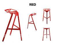 Стул барный Chair one Bar красный алюминий,стиль модерн, дизайнKonstantin Grcic