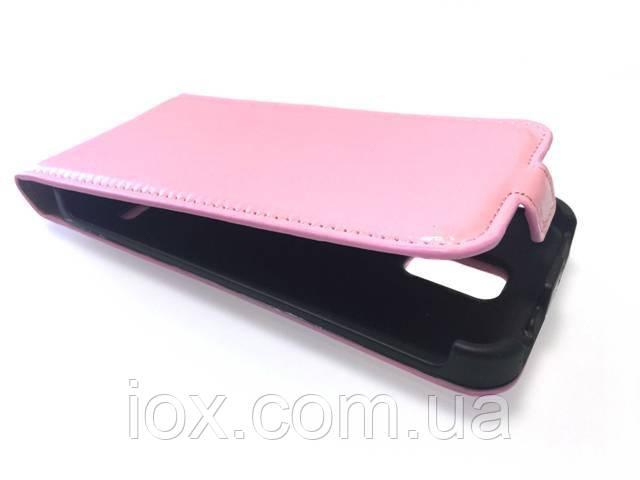 Шкіряний чохол-фліп на магнітній застібці для Samsung Galaxy S5 Рожевий