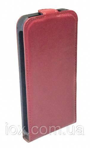 Кожаный чехол-флип на магнитной застежке для Samsung Galaxy S5 Красный