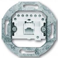 Механизм телефонной розетки RJ11/12, 1-гнездо - Abb Busch-Jaeger Elektro
