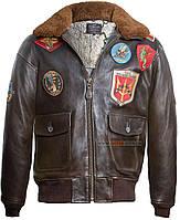 Кожаная куртка Top Gun Offical Signature Series Jacket (коричневая)