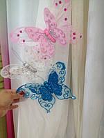 Декоративные бабочки с двойными крыльями 25 см