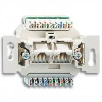 Механизм компьютерной розетки RJ45 кат.5e, неэкранированная, 2-гнезда - ABB Busch-Jaeger Elektro