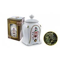 Подарочный зеленый  китайский  чай Teabreeze Оолонг Ти Гуан Инь чай улун  в  керамическая чайнице 100 грамм