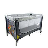 Двухуровневый Манеж-кровать CARRELLO Piccolo+сумка,  Grey