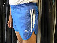Шорты Adidas  беговые голубые короткие.Размеры S M L X 2X