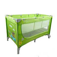 Двухуровневый Манеж-кровать CARRELLO Piccolo+сумка, Green