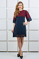 синее молодежное платье