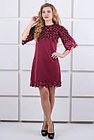 Молодежное платье бордовое