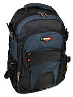 Школьный рюкзак 9609 black-blue черно-синий из нейлона городской спортивный, фото 1