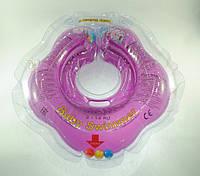 Коло для купання малюка Baby Swimmer Classic з брязкальцем пурпурний