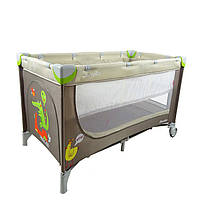 Двухуровневый Манеж-кровать CARRELLO Piccolo+сумка, Beige