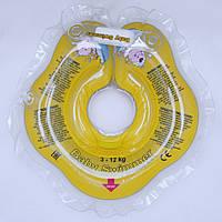 Коло для купання малюка Baby Swimmer Classic з брязкальцем жовтий
