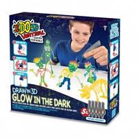 Набор для детского творчества с 3D-маркером - СВЕТЯЩИЕСЯ В ТЕМНОТЕ (3D-маркер-5 шт, аксессуары)