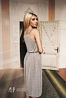 Женское летнее платье «Кармелита» S, Серый
