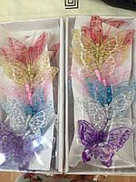 Декоративные бабочки на магните 10 см