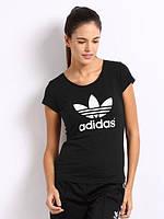 """Женская футболка спортивная """"Adidas"""" черная"""