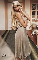 Женское летнее платье «Кармелита» L, Оливковый