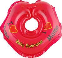 Круг для купания малыша Baby Swimmer Я люблю красный