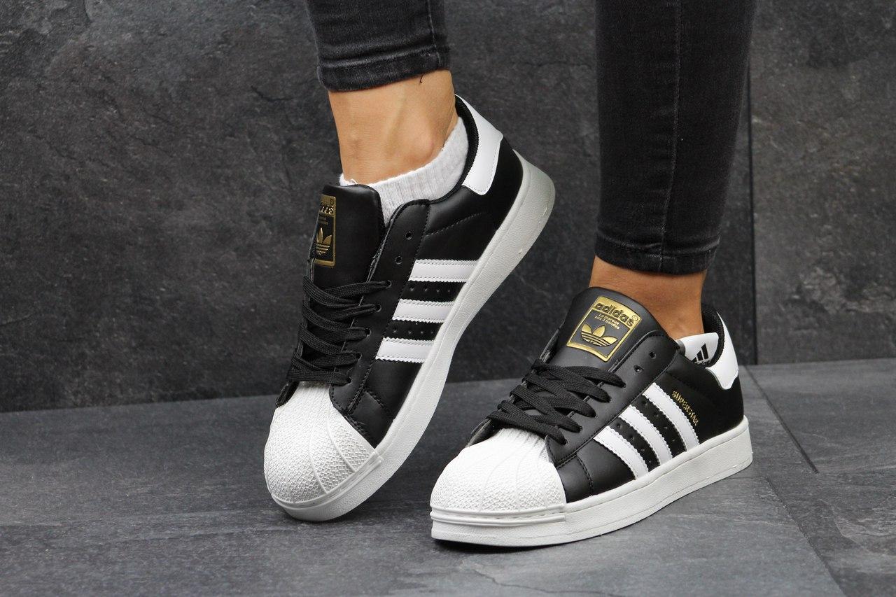 720d1fdbc Женские кроссовки Adidas Superstar черные 2732 - Я в шоке!™ в Хмельницком