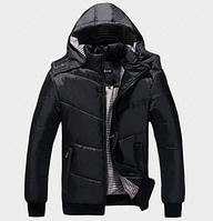 Теплая мужская зимняя куртка с капюшоном. Модель 6119
