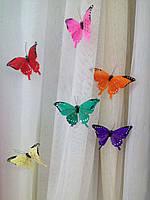 Бабочки перьевые на магните 11 см