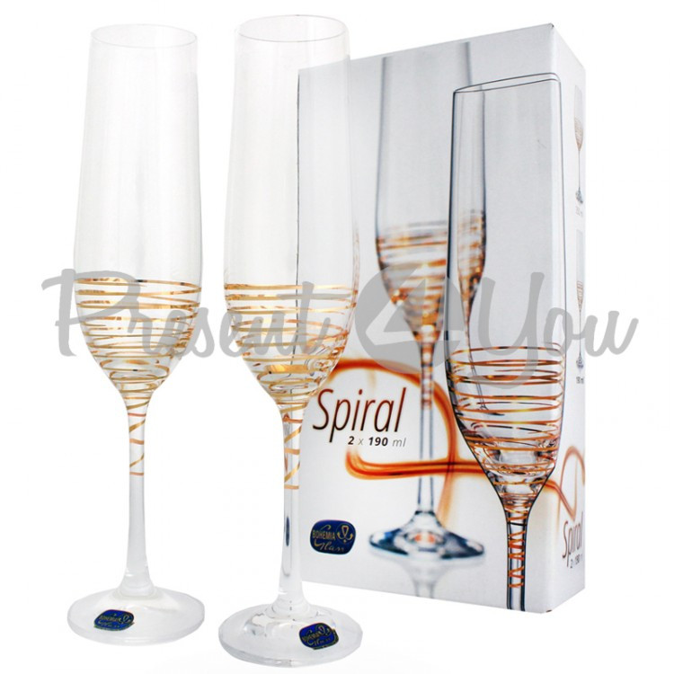 Фужери д/шампанського Spiral 200 / 2шт