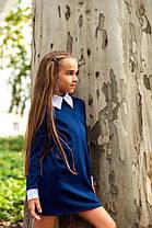 Стильное детское платье с белым воротником и манжетами., фото 2