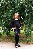 Стильное детское платье с белым воротником и манжетами., фото 3
