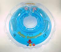 Круг для купания малыша Baby Swimmer (6-36кг) с погремушкой голубой