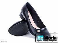 Привлекательные туфли женские Meideli Black больших размеров черные