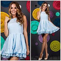 """Приталенное летнее платье-мини """"Элиза"""" с открытой спиной и расклешенной юбкой (4 цвета)"""