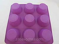 Силиконовая форма для кекса 22,5*22,5Х3,5 см (80/70) (цена за 1 шт. +10 грн.)