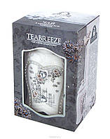 Подарочный черный  чай Teabreeze земляника со сливками  в  керамическая чайнице 100 грамм