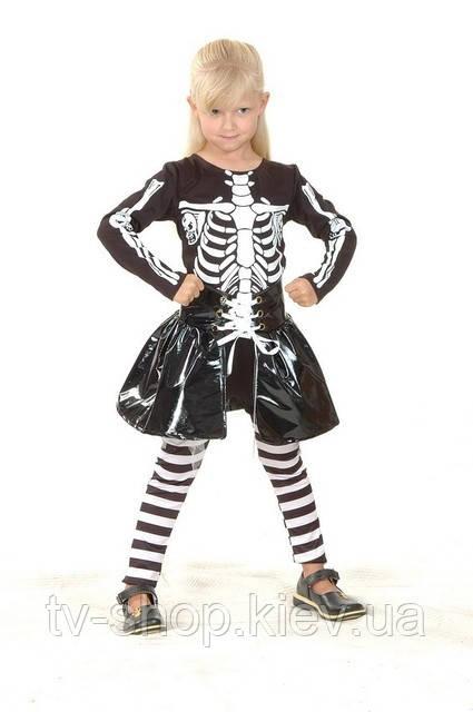Костюм карнавальный «Скелет девочка» ( S,М,L)